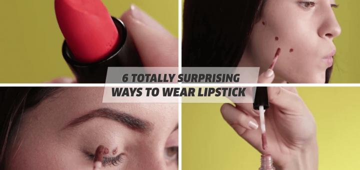 6 Totally Surprising Ways To Wear Lipstick