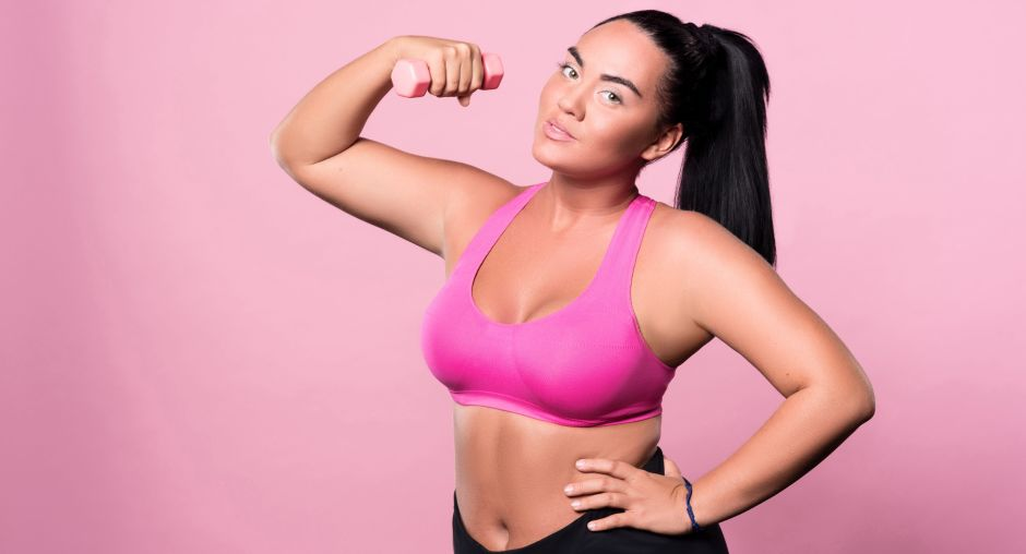 Plus Size sportswear for women working out at home
