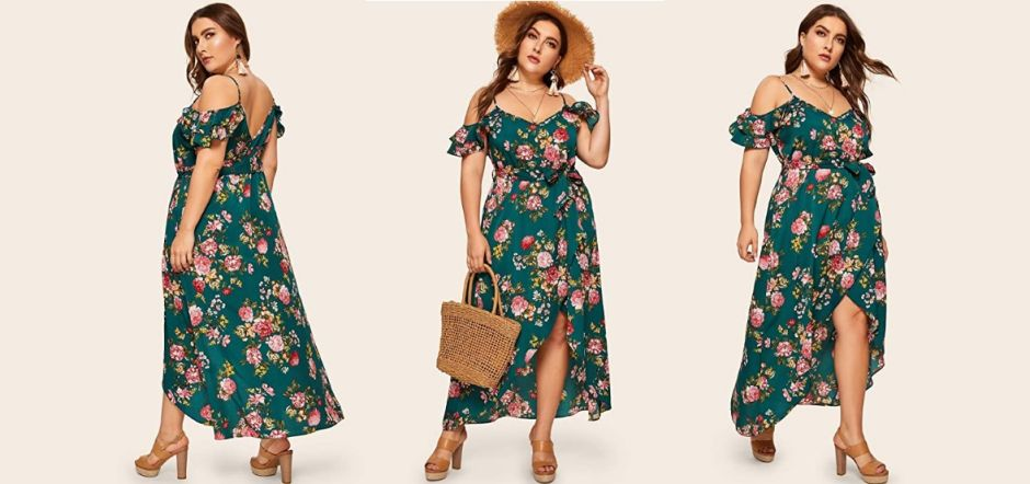 plus size floral dresses to wear in the spring without spending a lot of money